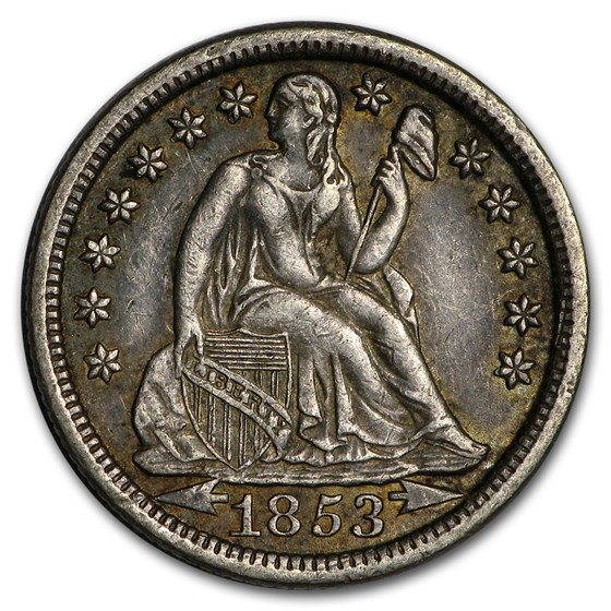 1853 Liberty Seated Dime w/Arrows XF