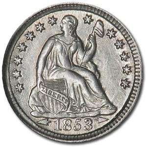 1853 Liberty Seated Half Dime w/Arrows BU