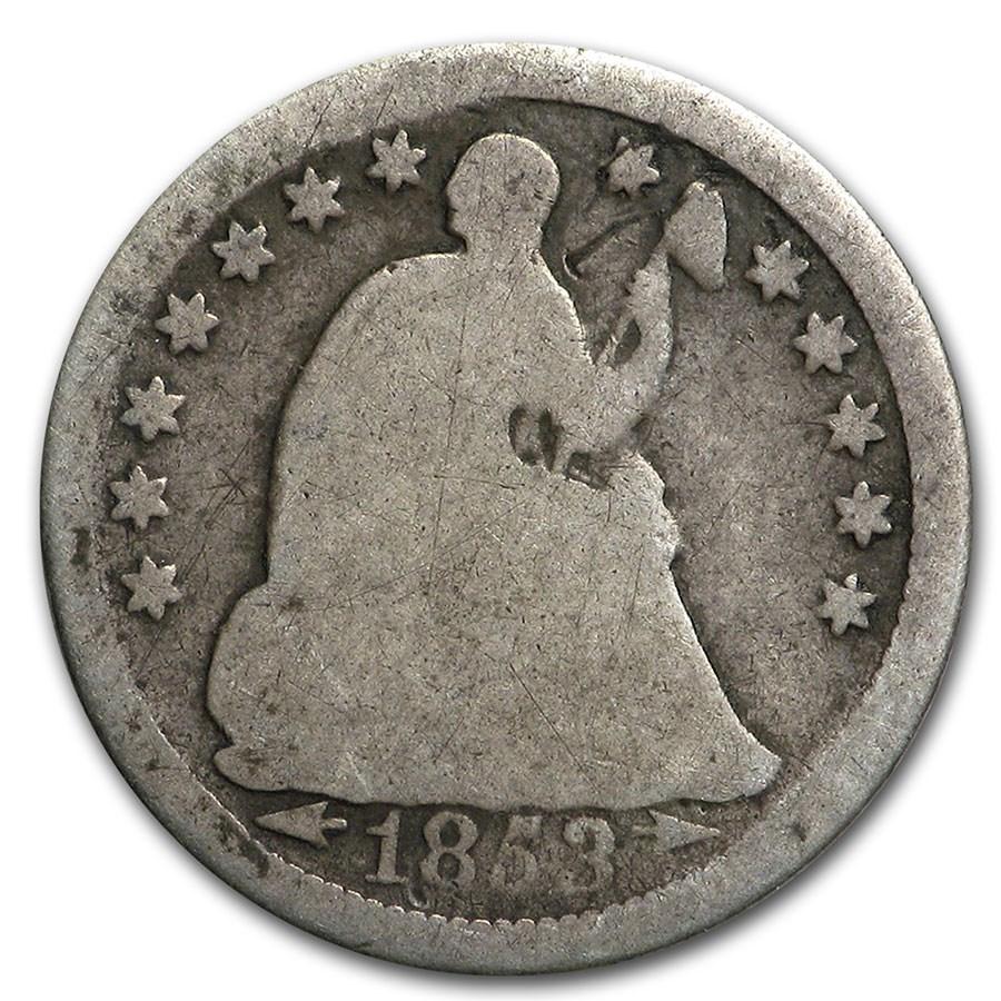 1853 Liberty Seated Half Dime w/Arrows Good