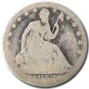 1853 Liberty Seated Half Dollar w/Arrows & Rays AG