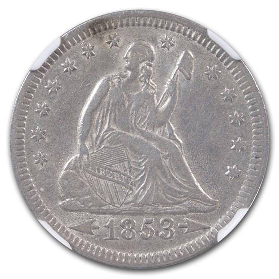 1853 Liberty Seated Quarter XF-45 NGC (Arrows & Rays)