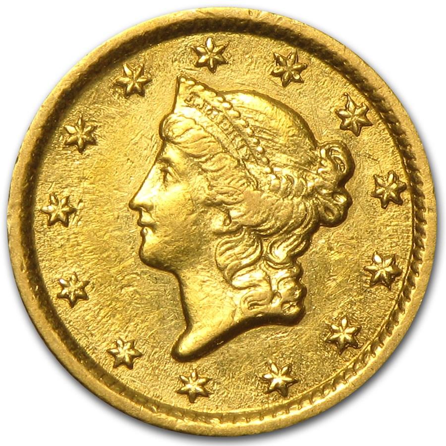 1853-O $1 Liberty Head Gold Dollar AU