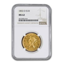 1853-O $10 Liberty Gold Eagle MS-62 NGC