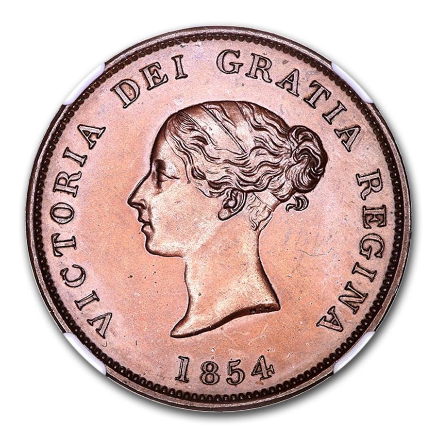 1854 Canada New Brunswick Bronzed Penny PR-64 NGC (Brown)