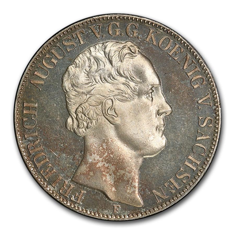 1854 German State Saxony-Albertine Silver 2 Thaler PR-65 PCGS