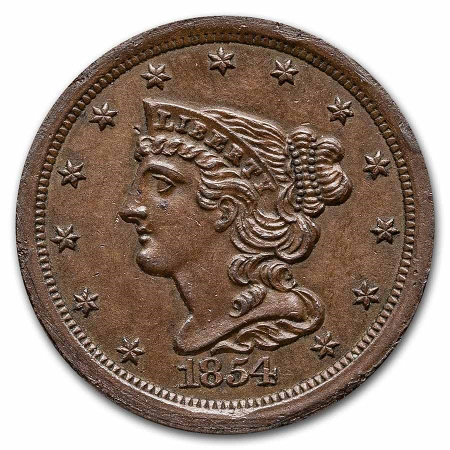 1854 Half Cent BU (Brown)