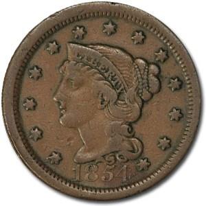1854 Large Cent Fine
