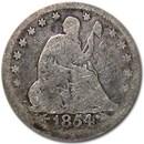 1854 Liberty Seated Quarter Good w/Arrows