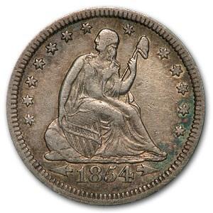 1854 Liberty Seated Quarter XF