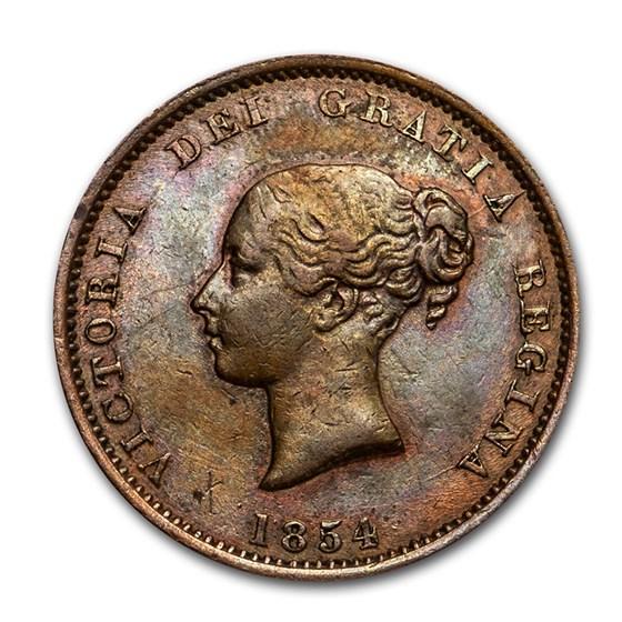 1854 New Brunswick Copper Half Penny Token XF