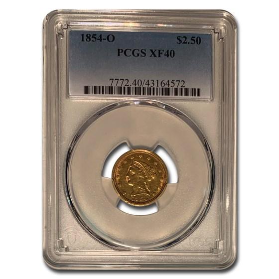 1854-O $2.50 Liberty Gold Quarter Eagle XF-40 PCGS