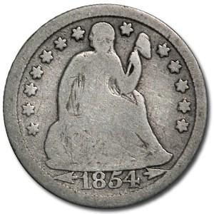 1854-O Liberty Seated Dime w/Arrows Good