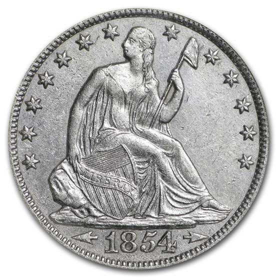 1854-O Liberty Seated Half Arrows NGC (SS-Republic, Book display)
