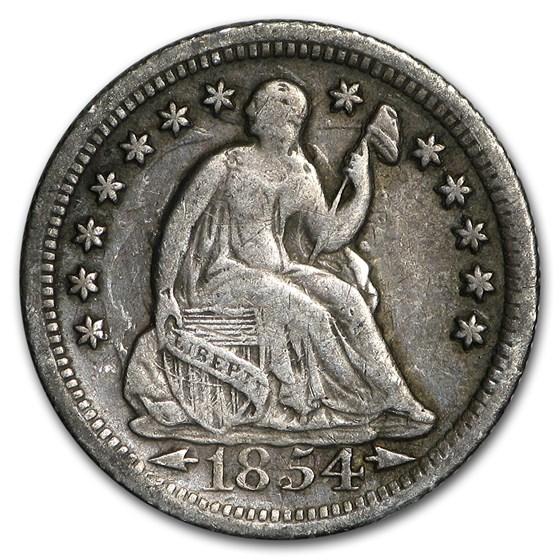 1854-O Liberty Seated Half Dime VF