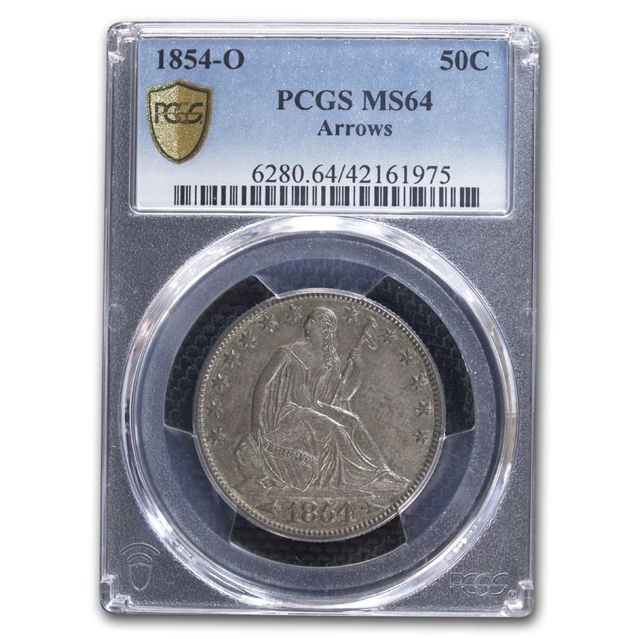 1854-O Liberty Seated Half Dollar MS-64 PCGS (Arrows)