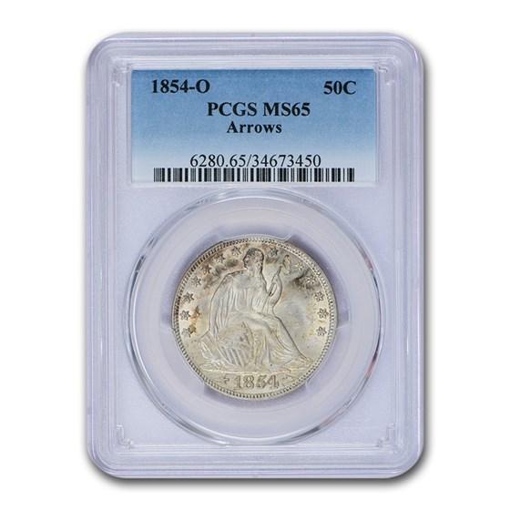 1854-O Liberty Seated Half Dollar MS-65 PCGS (Arrows)