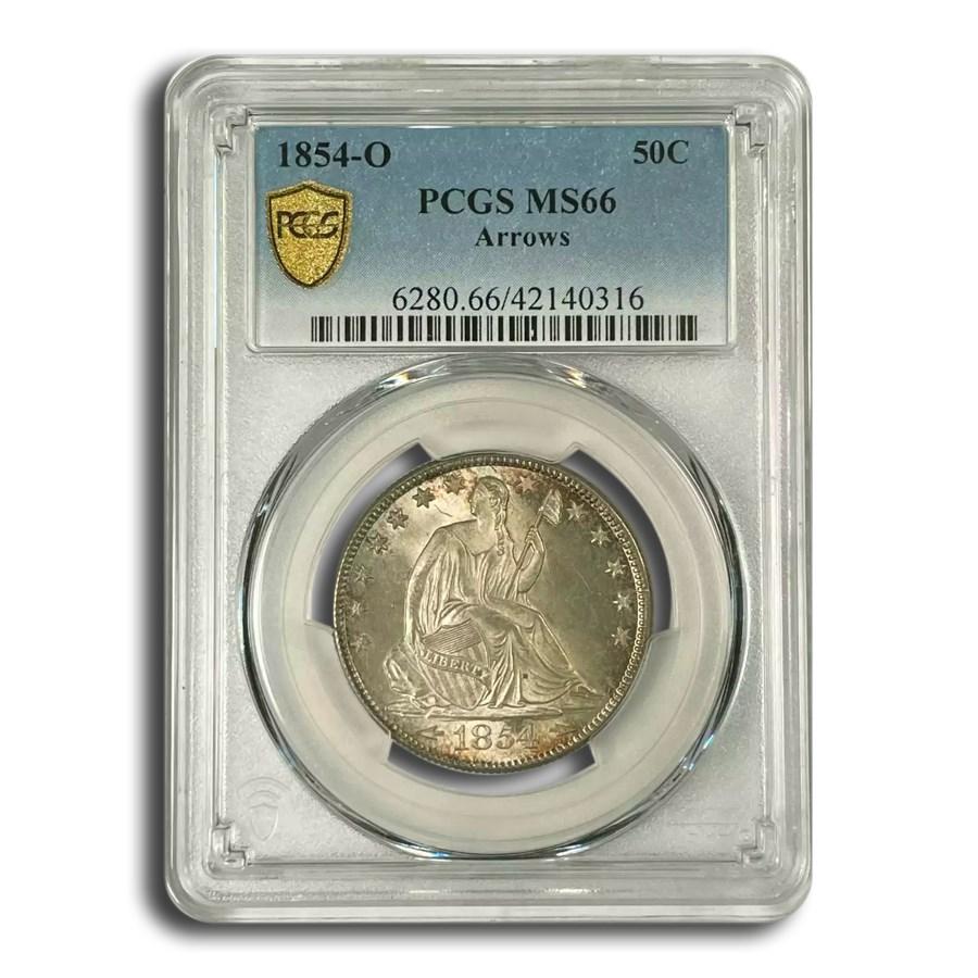 1854-O Liberty Seated Half Dollar MS-66 PCGS (Arrows)