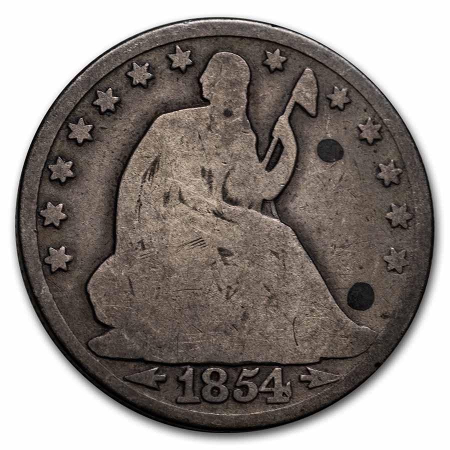 1854-O Liberty Seated Half Dollar w/Arrows AG