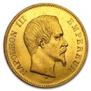 1855-1859 France Gold 100 Francs Napoleon III BU