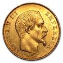 1855-1859 France Gold 50 Francs Napoleon III (BU)