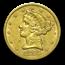 1855 5-Coin Liberty Gold Type Set VF+ ($20, $10, $5, $2.50, $1)
