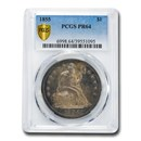 1855 Liberty Seated Dollar PR-64 PCGS