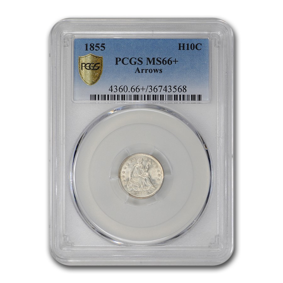 1855 Liberty Seated Half Dime MS-66+ PCGS (Arrows)