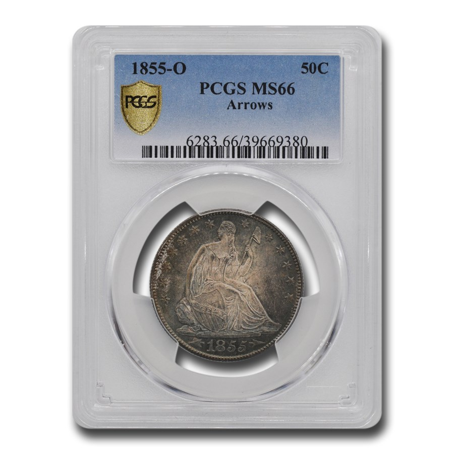 1855-O Liberty Seated Half Dollar MS-66 PCGS (Arrows)