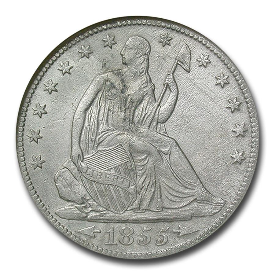 1855-O Liberty Seated Half Dollar SS-Republic Shipwreck NGC