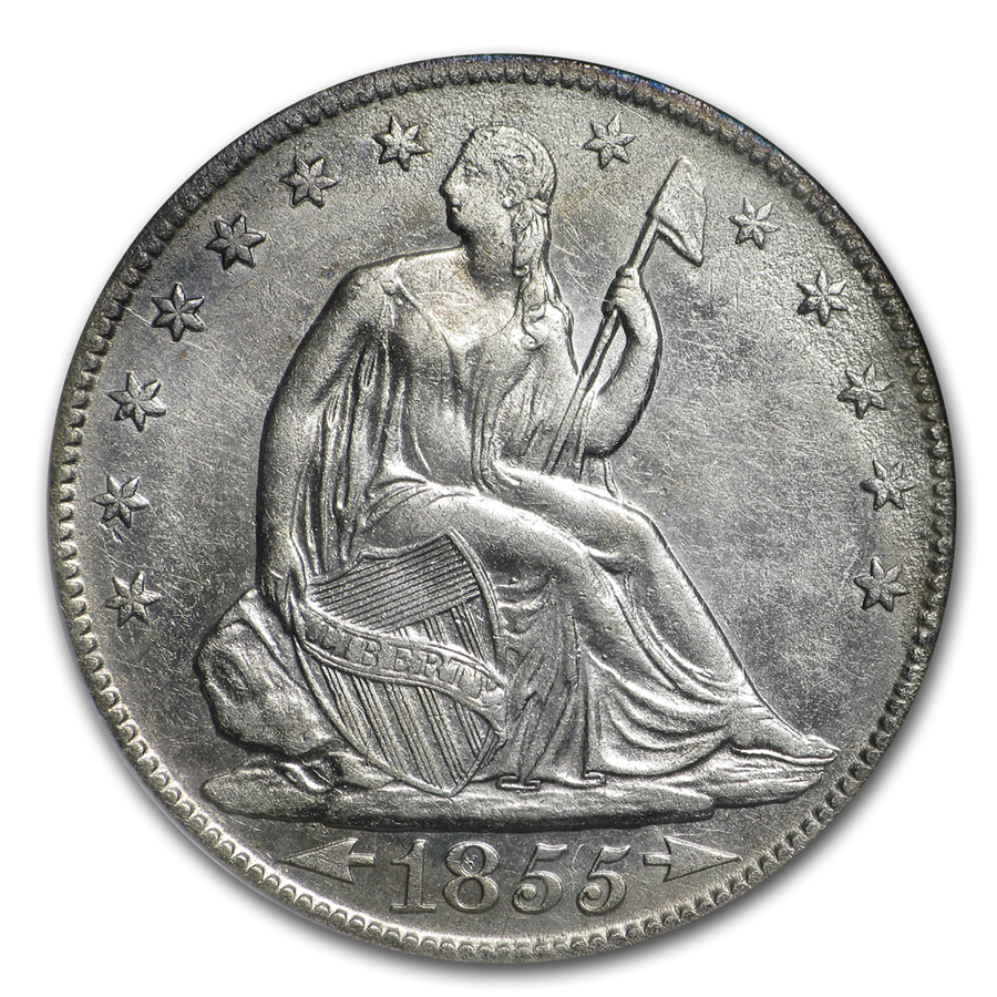 1855-O Liberty Seated Half NGC (SS-Republic, Book display)