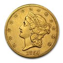 1855-S $20 Liberty Gold Double Eagle XF Details (Cleaned)