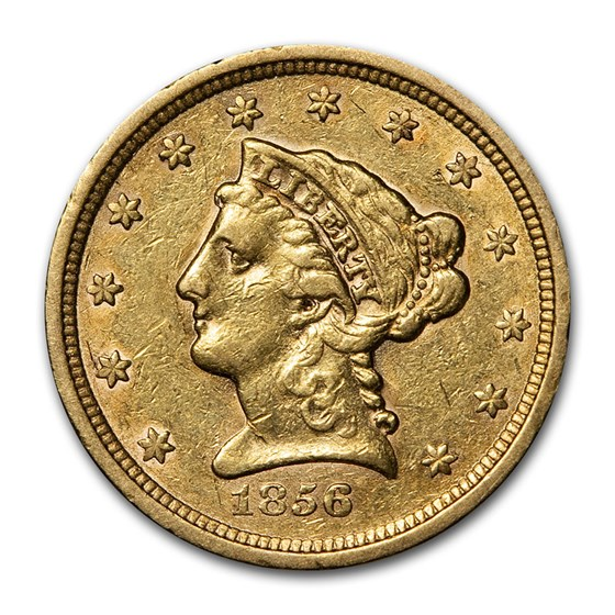 1856 $2.50 Liberty Gold Quarter Eagle XF