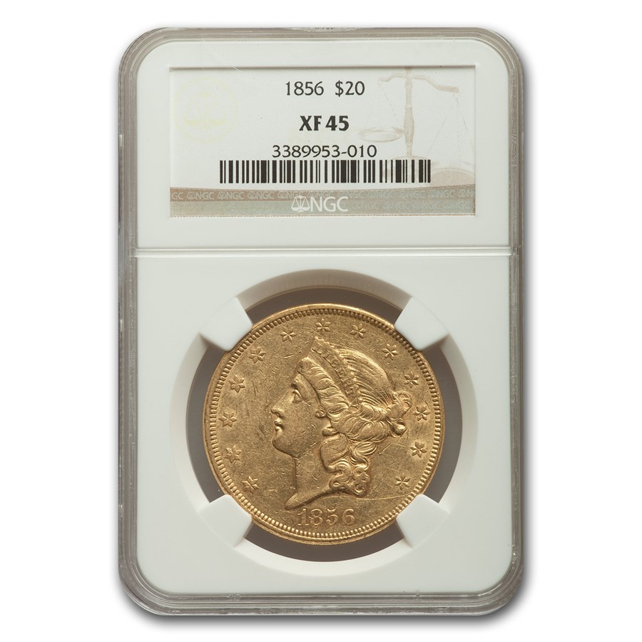 1856 $20 Liberty Gold Double Eagle XF-45 NGC
