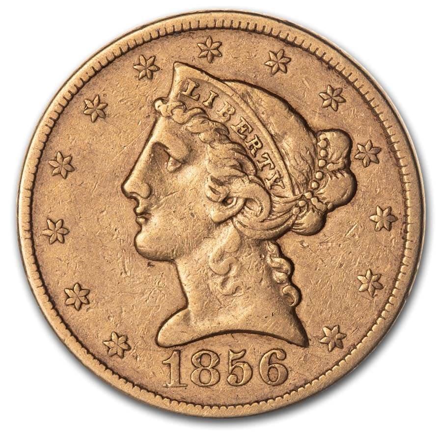 1856 $5 Liberty Gold Half Eagle XF