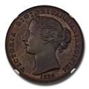 1856 Canada (Nova Scotia) Bronzed Copper Penny SP-64 (Brown) NGC