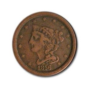 1856 Half Cent VF