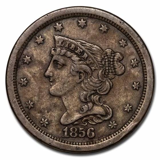 1856 Half Cent XF