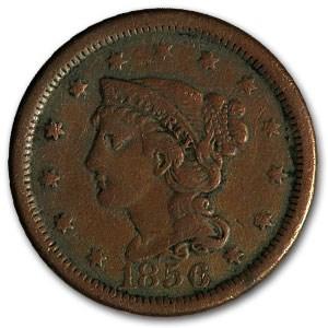 1856 Large Cent Upright 5 VF