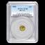 1856 Liberty Octagonal 25 Cent Gold AU-58 PCGS (BG-111)