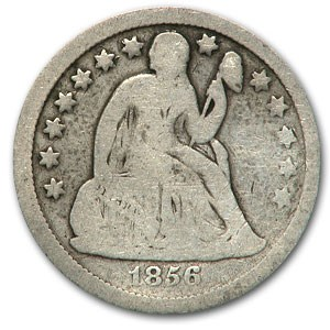 1856 Liberty Seated Dime Small Date Good