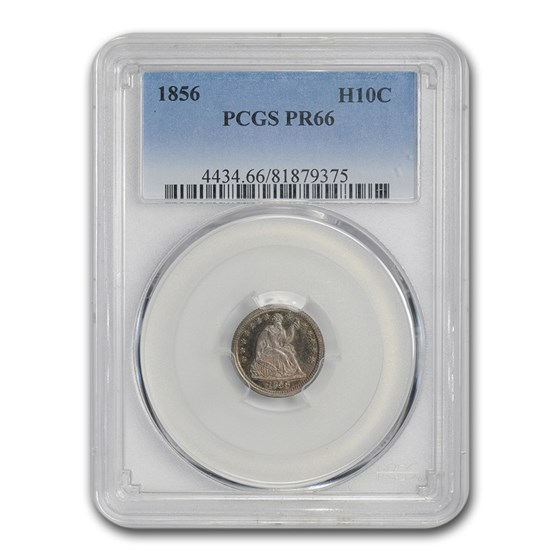 1856 Liberty Seated Half Dime PR-66 PCGS