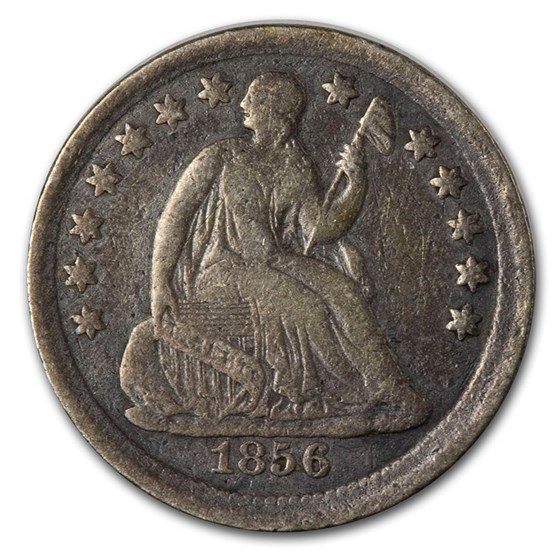 1856 Liberty Seated Half Dime VF (Details)