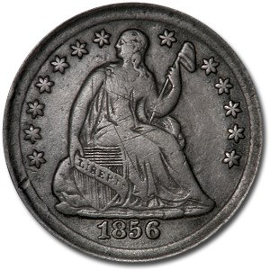 1856 Liberty Seated Half Dime XF Details (Scratched)