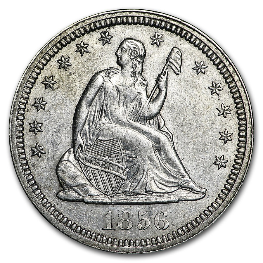 1856 Liberty Seated Quarter AU