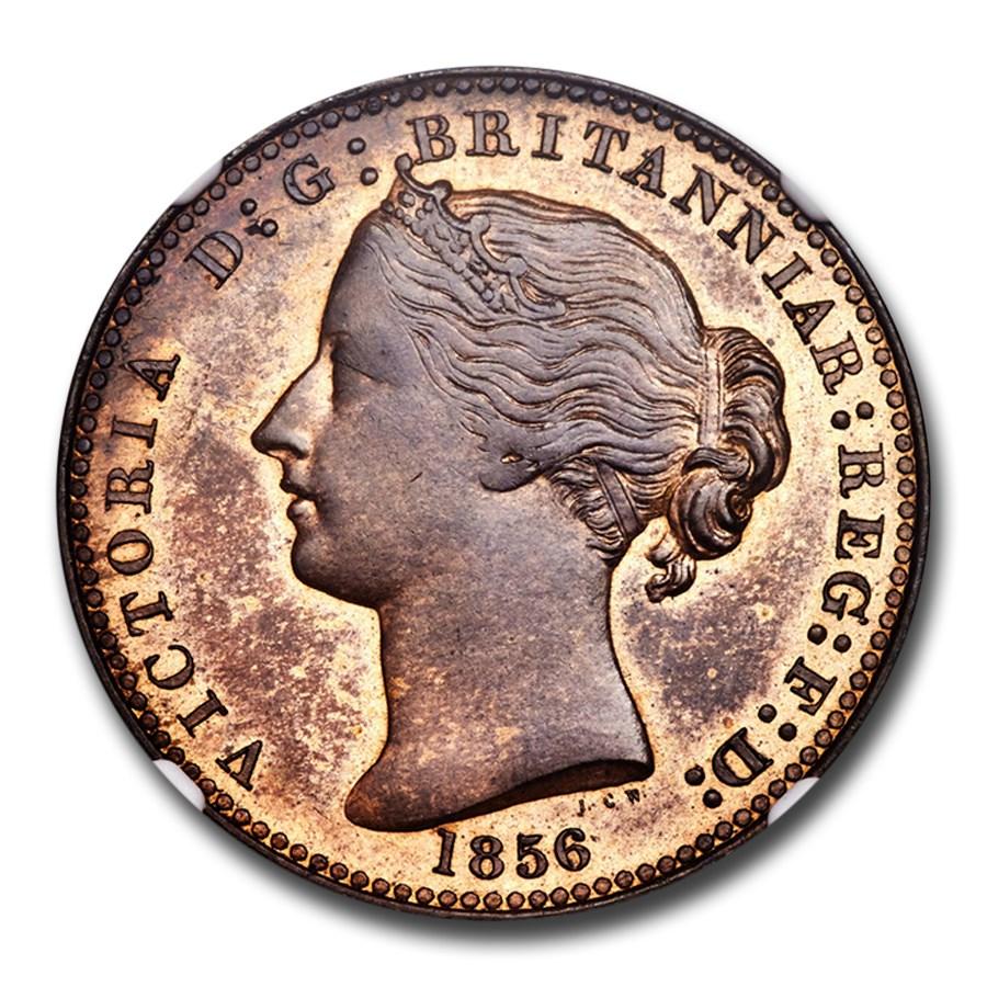 1856 Nova Scotia Penny Pattern Token SP-64 NGC (Red-Brown)
