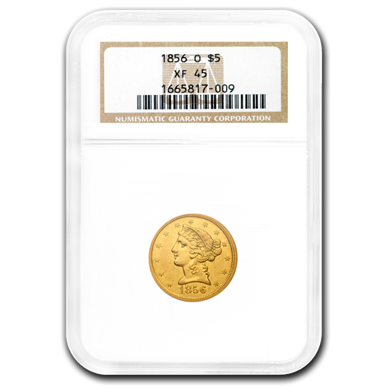 1856-O $5 Liberty Gold Half Eagle XF-45 NGC