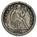 1856-O Liberty Seated Dime VF