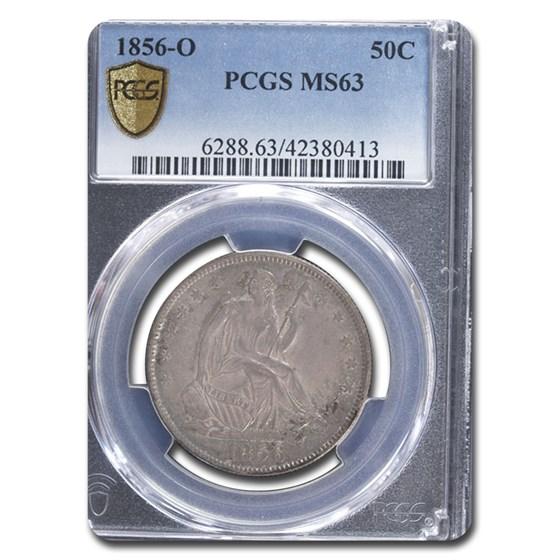 1856-O Liberty Seated Half Dollar MS-63 PCGS