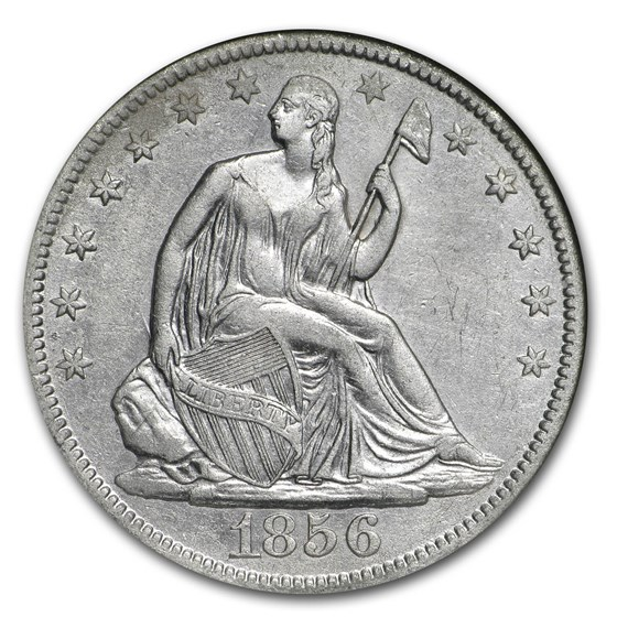 1856-O Liberty Seated Half NGC (SS-Republic, Book display)