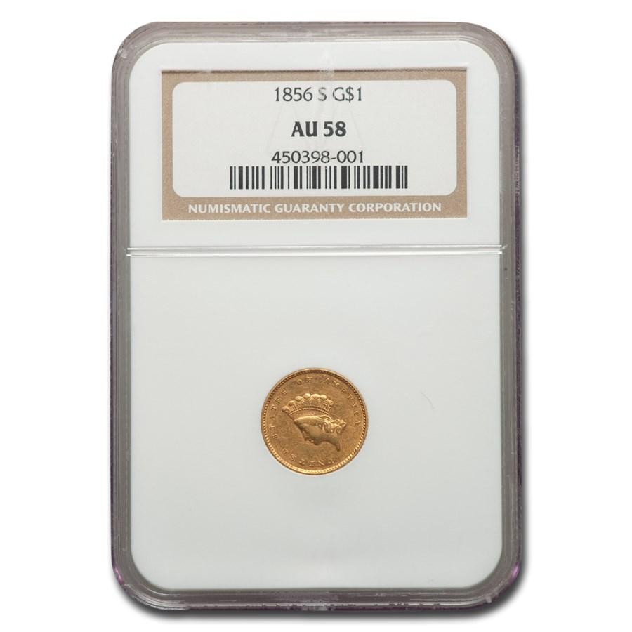 1856-S $1 Indian Head Gold Dollar AU-58 NGC